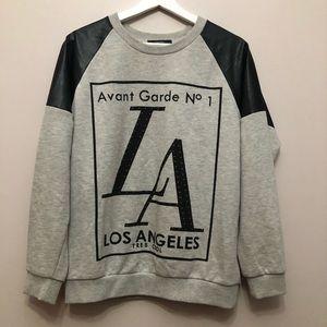 Black and gray sweatshirt Avant Garde with studs